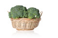 Free Broccoli In A Basket Stock Image - 33490431