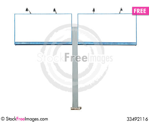 Free Old Blank Billboard Royalty Free Stock Image - 33492116