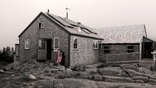 Greenleaf Hut - Appalachian Mountain Club Stock Image