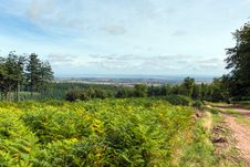 View From The Quantock Hills Somerset England Towards Bristol Channel Stock Image