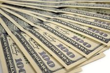 Heap Of Dollars, Money Background Stock Image