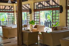 Tropical Hotel Lobby Royalty Free Stock Photo