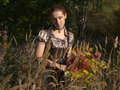 Free A Girl With Bouquet In Autumn Royalty Free Stock Photos - 3353538