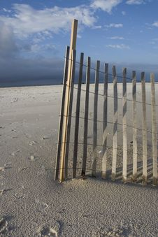 Sand And Barrier Royalty Free Stock Image