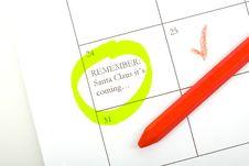 Free Calendar Memo Royalty Free Stock Image - 3350786