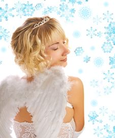 Blond Angel Girl Royalty Free Stock Image