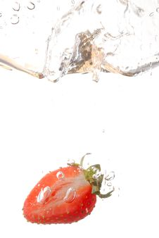 Free Strawberry Splash Royalty Free Stock Images - 3351489