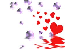 Love Bubbles Over Royalty Free Stock Photo