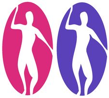 Free Abstract Male Female Labels Stock Photo - 3353000