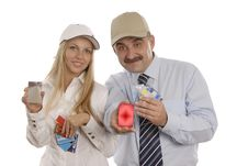 Free A Man And A Woman With Credit Royalty Free Stock Photography - 3354957
