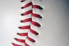 Free Baseball Macro Royalty Free Stock Photography - 3355057