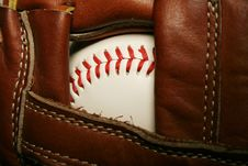 Free Baseball In A Glove Royalty Free Stock Photo - 3355095