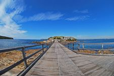 Free Wooden Bridge Blue Sky Island Stock Photo - 3355590