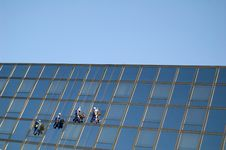 Free Cleaners On The Building 2 Royalty Free Stock Photos - 3355718