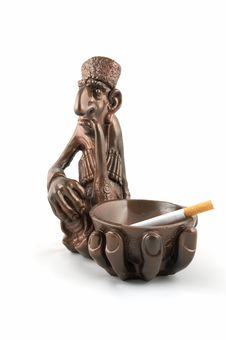 Free Ashtray With A Cigarette Royalty Free Stock Photos - 3356568
