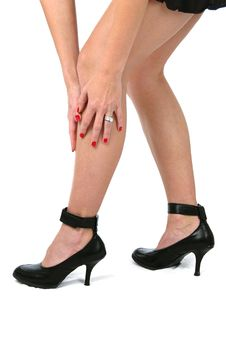 Free Beautiful Legs On High Heels Royalty Free Stock Image - 3356846