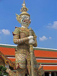 Bangkok Palace Guard Royalty Free Stock Photo