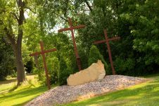 Free Three Crosses Stock Photography - 3357002