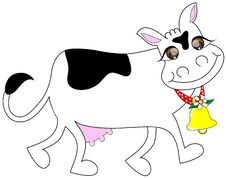 Cow With Smile Royalty Free Stock Photos