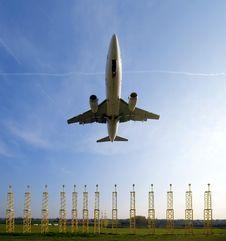 Free Plane Approaching Runway Stock Image - 3357751