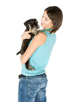 Free I Love My Puppy Stock Photography - 3358152