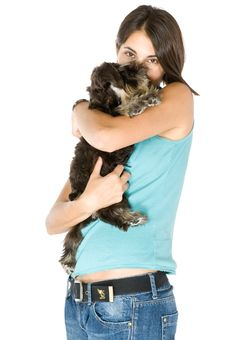 Free I Love My Puppy Stock Photography - 3358242