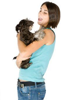 I Love My Puppy Royalty Free Stock Image