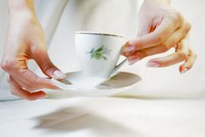 Free Cup With Saucer Royalty Free Stock Photos - 3358628