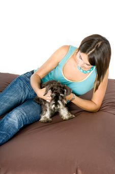 Love My Puppy! Stock Photography