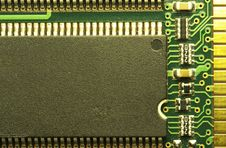 Close Up Of Computer RAM Chip Stock Photography