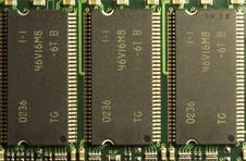 Close Up Of Computer RAM Chips Stock Photo
