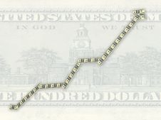 Diagram Painted Into Dollars Royalty Free Stock Images