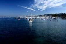 Free Ships In Leman Lake Stock Photos - 3359973