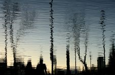 Free Silhouettes Reflected On Water Royalty Free Stock Photo - 3359995