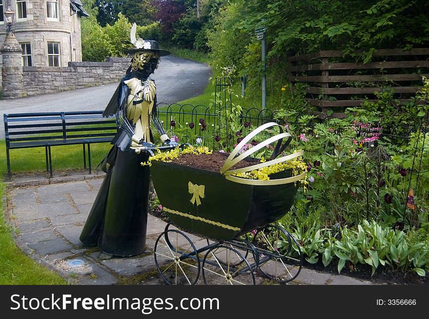 Sculpture at pitlochry