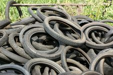 Free Tires Garbage Stock Image - 33500601