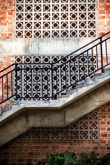 Outdoor Staircase Royalty Free Stock Photos
