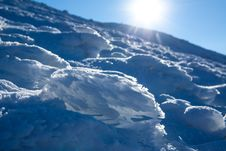 Free Sun And Snow Mountains Landscape Stock Image - 33512501