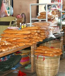 Free Characteristic Original French Baguettes, Laos Royalty Free Stock Image - 33513026