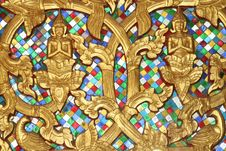 Golden Buddha Decorations In Detail, Vientiane, Laos Stock Photo