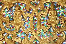 Free Golden Buddha Decorations In Detail, Vientiane, Laos Stock Photo - 33514230