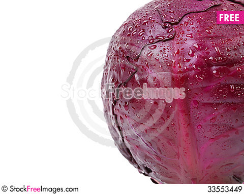 Free Half Red Cabbage. Royalty Free Stock Images - 33553449