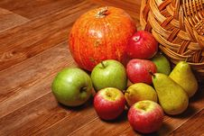 Free Apple, Pear, Pumpkin Royalty Free Stock Images - 33553989
