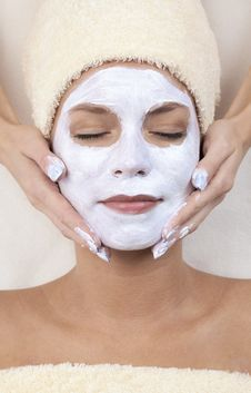 Facial Mask. XXXL Stock Photo