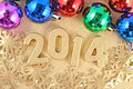 Free 2014 Year Golden Figures Stock Image - 33567351
