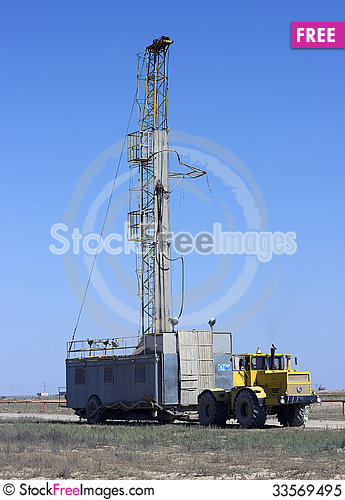 Free Installation For Well Drilling Royalty Free Stock Photo - 33569495