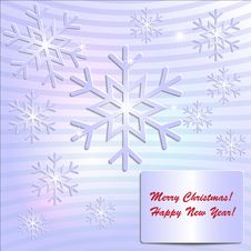 Free Paper SnowFlake Holiday Card Royalty Free Stock Images - 33562749