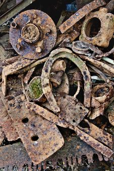 Free Rusty Antique Horseshoe With Metal Parts Royalty Free Stock Photo - 33565585
