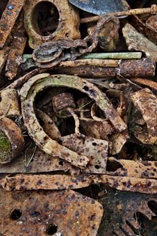 Free Antique Horseshoe With Metal Parts Stock Image - 33565621