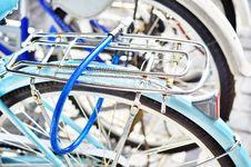 Key Lock  Bicycle Royalty Free Stock Image